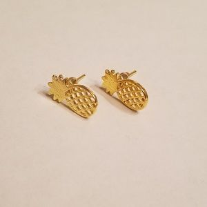 Jewelry - Yellow Gold Pineapple Earrings